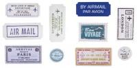 Flugreise Geschenk-Etiketten