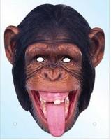 3D Fotomaske Karton Schimpanse