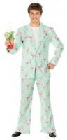 Kostüm Flamingo Disco Anzug Grösse M Jacke und Hose