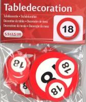 XL Tischkonfetti Verkehrschild 18