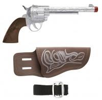 Cowboypistole mit Halfter und Gürtel