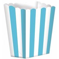5 Popcorn Schachteln blau