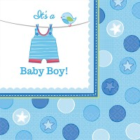 16 Servietten 33x33cm Baby Shower Boy