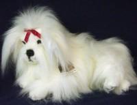 Plüsch Malteser-Hund 26x40cm